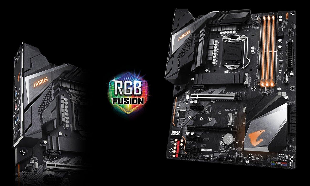Gigabyte Z390 AORUS ELITE Podświetlenie RGB Fusion