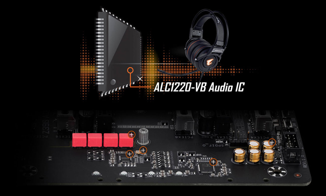 Gigabyte Z390 AORUS MASTER Układ audio