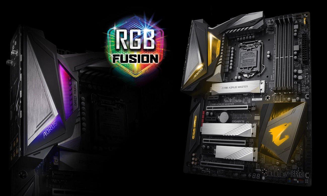 Gigabyte Z390 AORUS MASTER Podświetlenie RGB Fusion