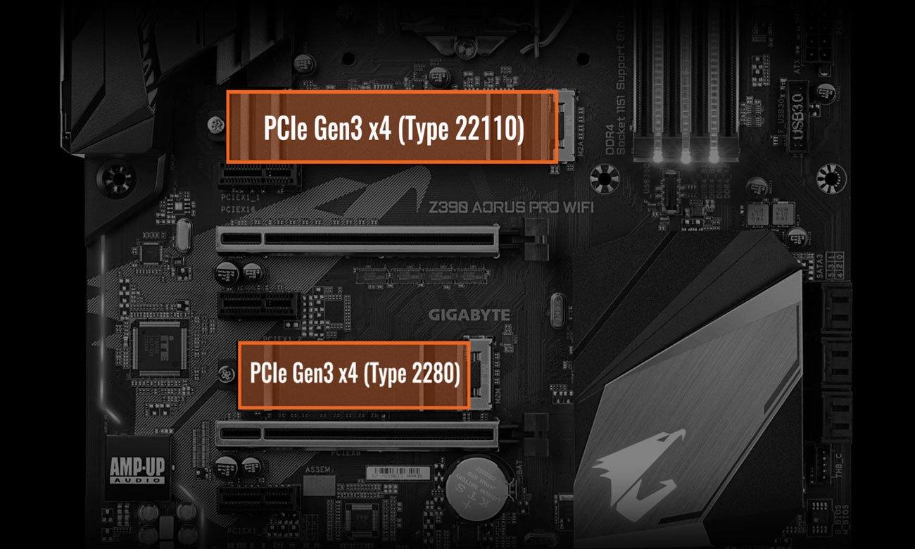 Gigabyte Z390 AORUS PRO WIFI Złącza M.2