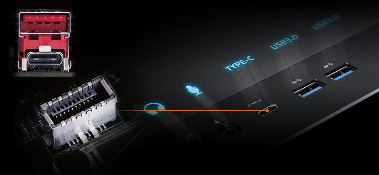 Gigabyte Z390 AORUS PRO WIFI Złącza USB