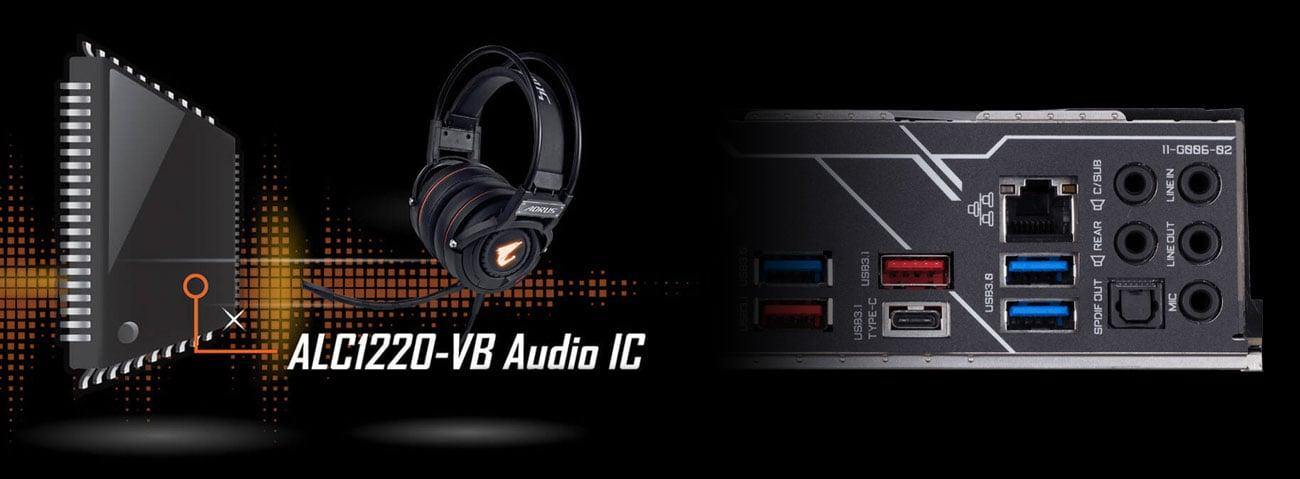 Gigabyte Z390 AORUS PRO WIFI Układ audio