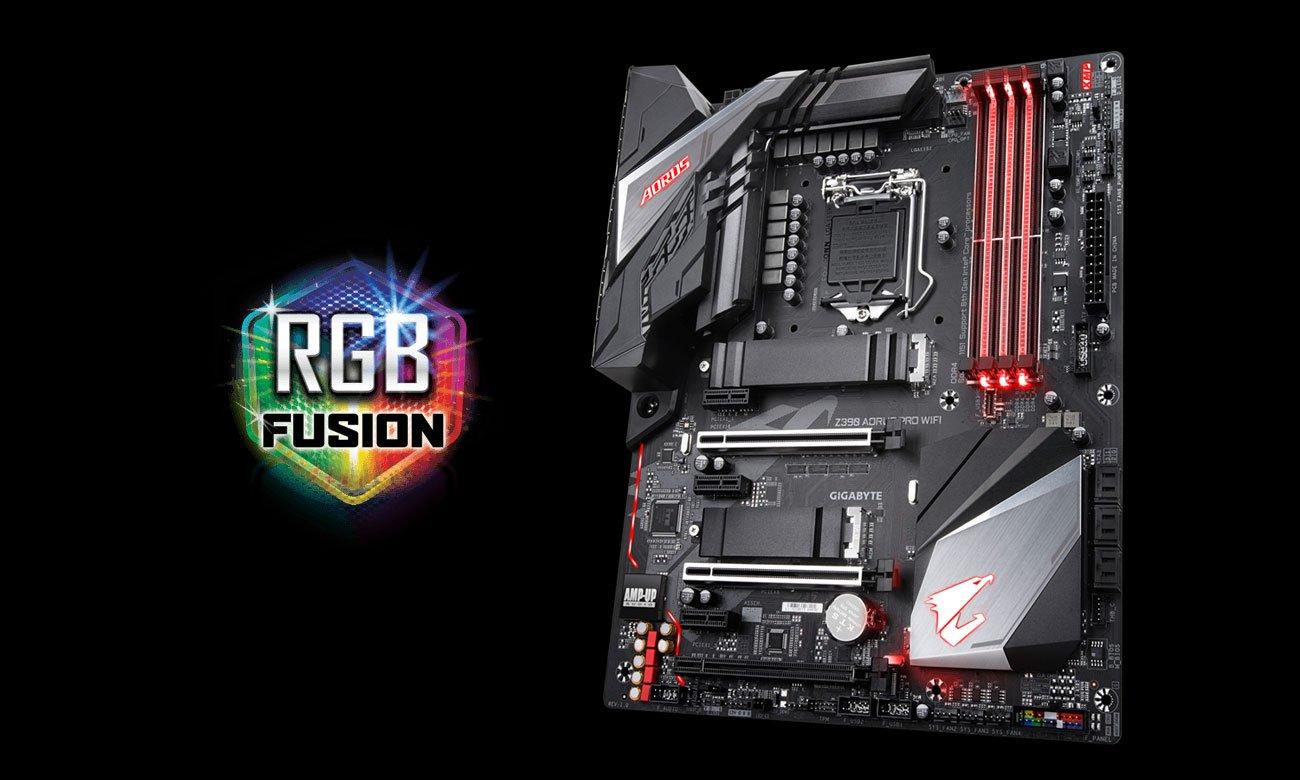 Gigabyte Z390 AORUS PRO WIFI Podświetlenie RGB Fusion