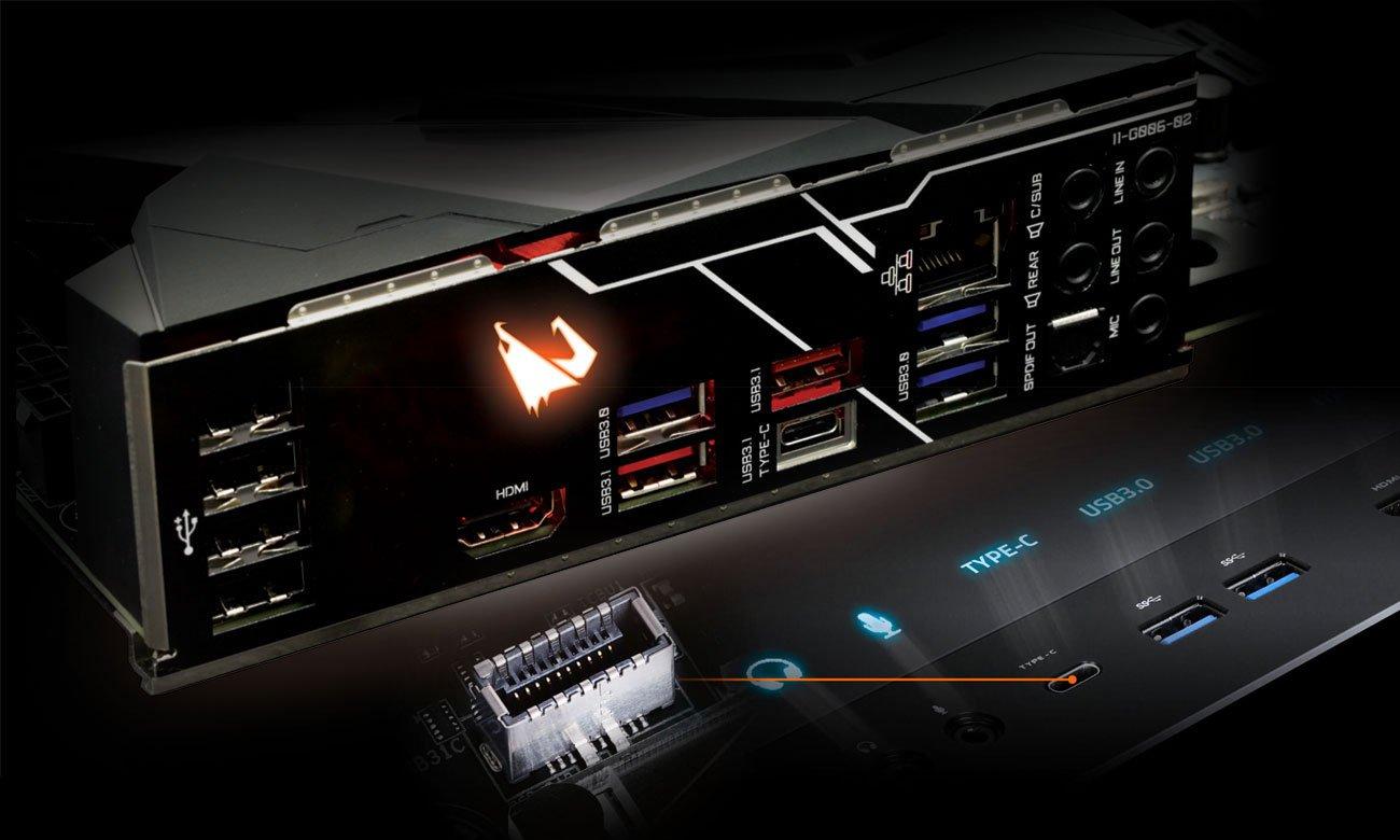 Gigabyte Z390 AORUS PRO Złącza USB