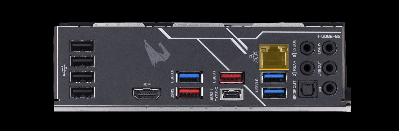 Gigabyte Z390 AORUS PRO Złącza, port LAN