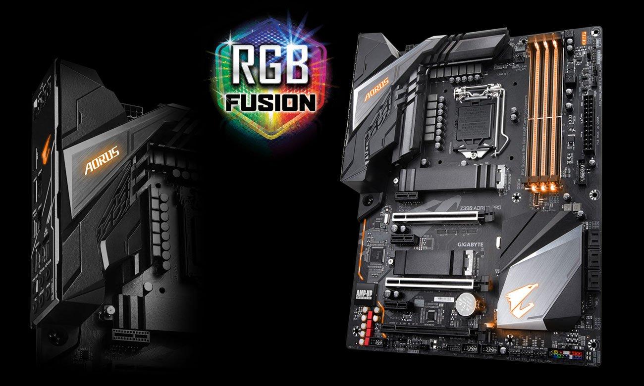 Gigabyte Z390 AORUS PRO Podświetlenie RGB Fusion