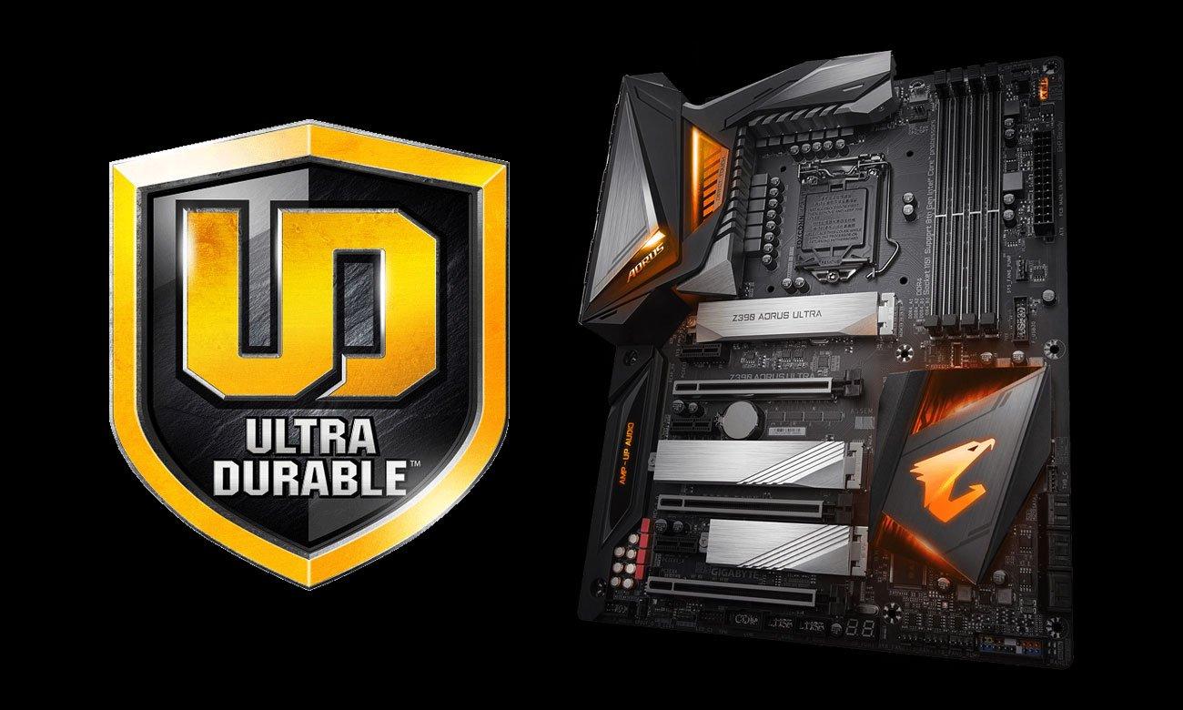 Gigabyte Z390 AORUS ULTRA Wytrzymałość Ultra Durable
