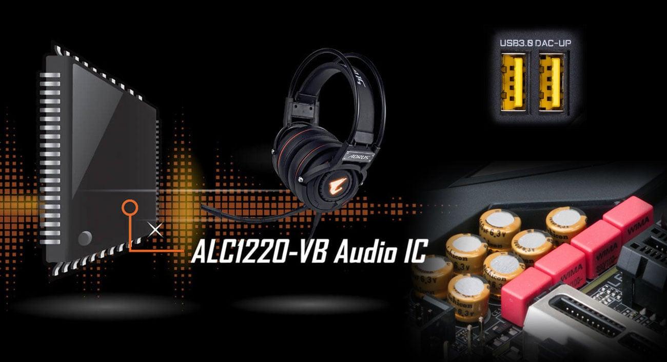 Gigabyte Z390 AORUS ULTRA Gamingowy układ dźwiękowy ALC1220-VB