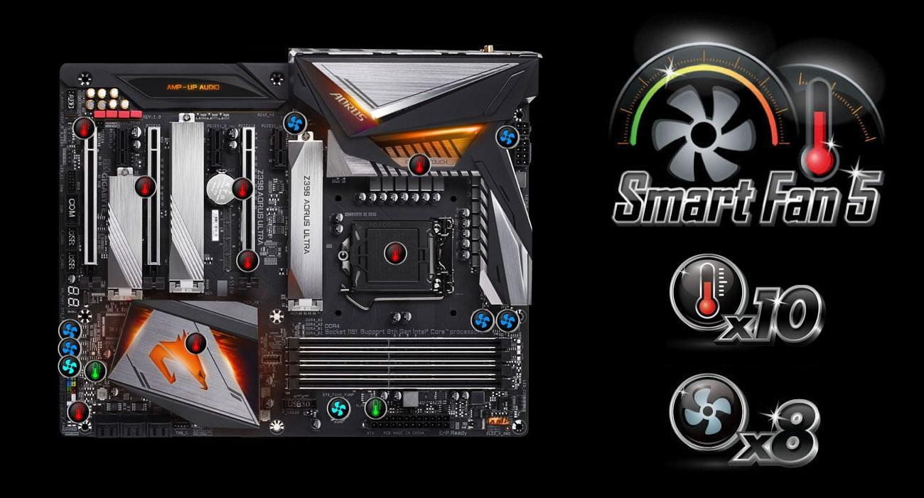 Gigabyte Z390 AORUS ULTRA Chłodzenie Smart Fan 5