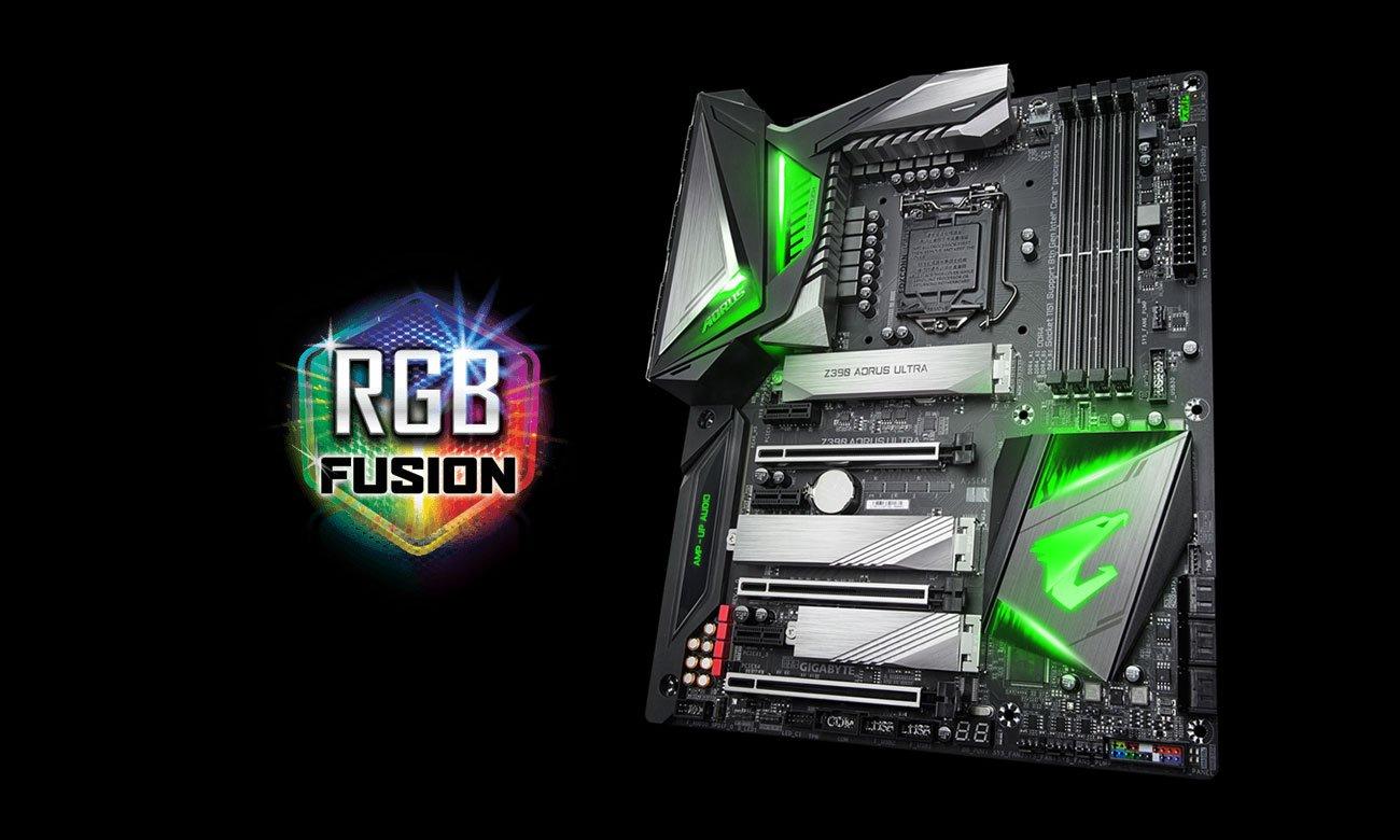 Gigabyte Z390 AORUS ULTRA Podświetlenie RGB Fusion