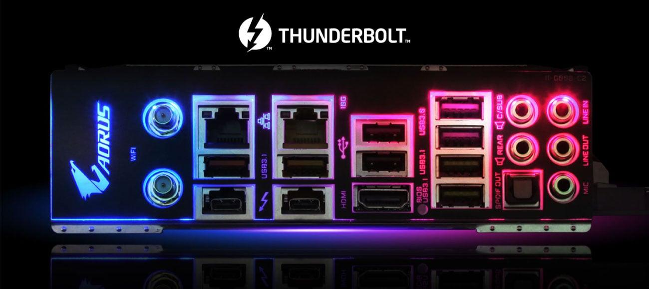 Gigabyte Z390 AORUS XTREME Złącza, Thunderbolt 3