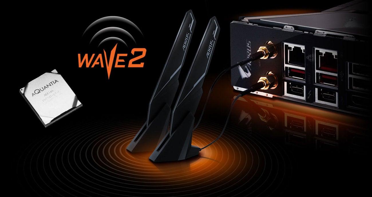 Gigabyte Z390 AORUS XTREME Łączność LAN, Wi-Fi