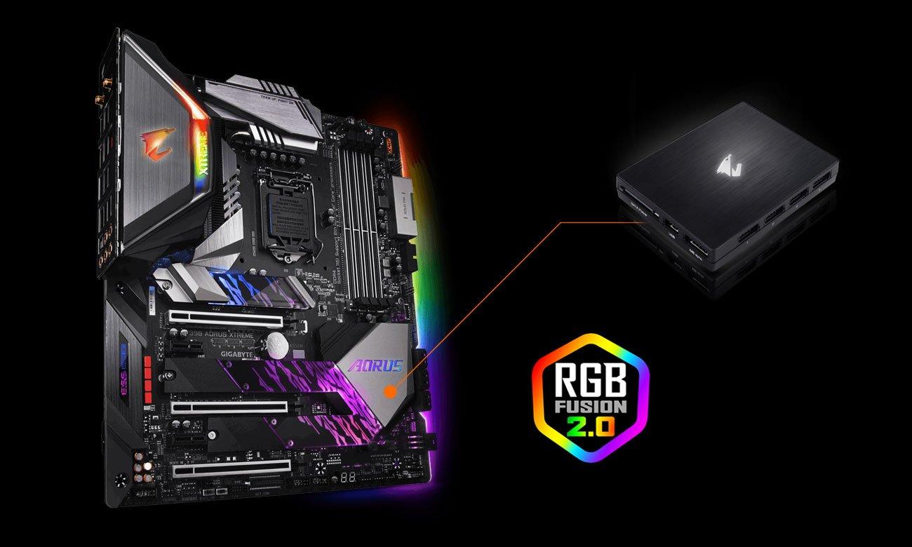 Gigabyte Z390 AORUS XTREME Podświetlenie RGB Fusion