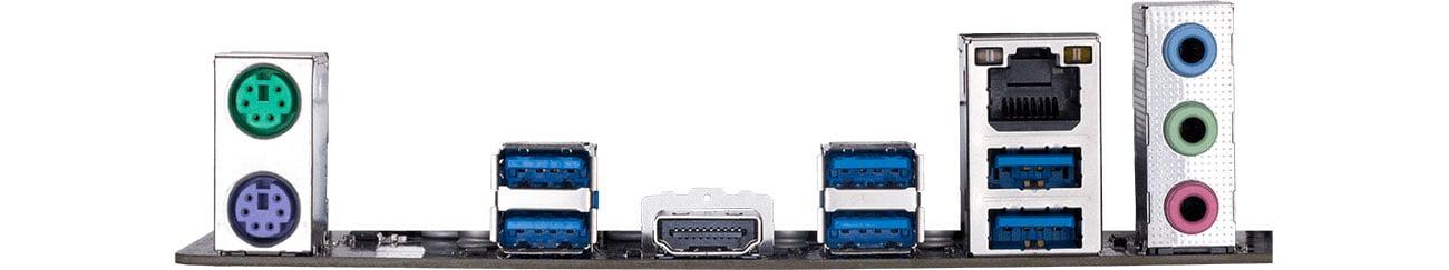 Gigabyte Z390 D - Złącza