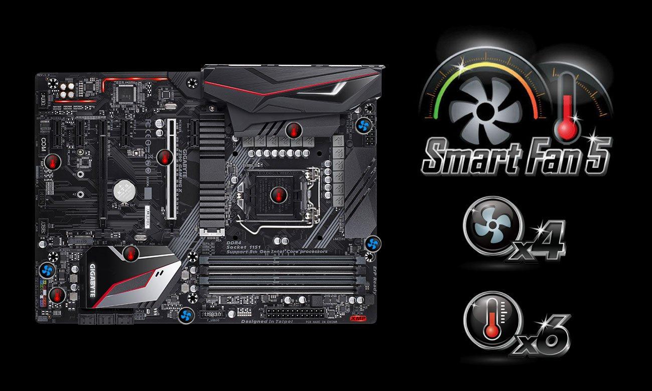 Gigabyte Z390 GAMING X Chłodzenie Smart Fan 5