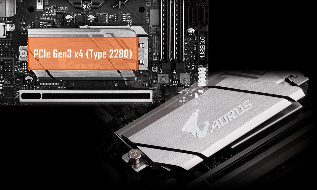 Gigabyte Z390 I AORUS PRO WIFI Złącza M.2