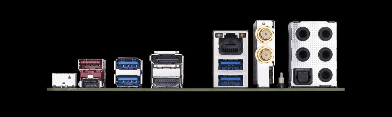 Gigabyte Z390 I AORUS PRO WIFI Porty płyty głównej, USB