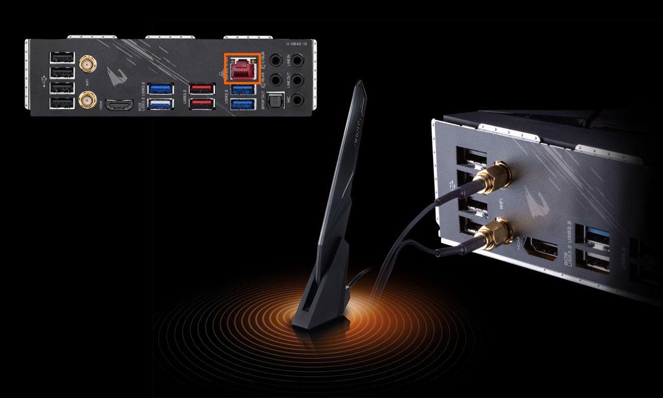 Gigabyte Z490 AORUS ELITE AC - Łączność LAN, Wi-Fi