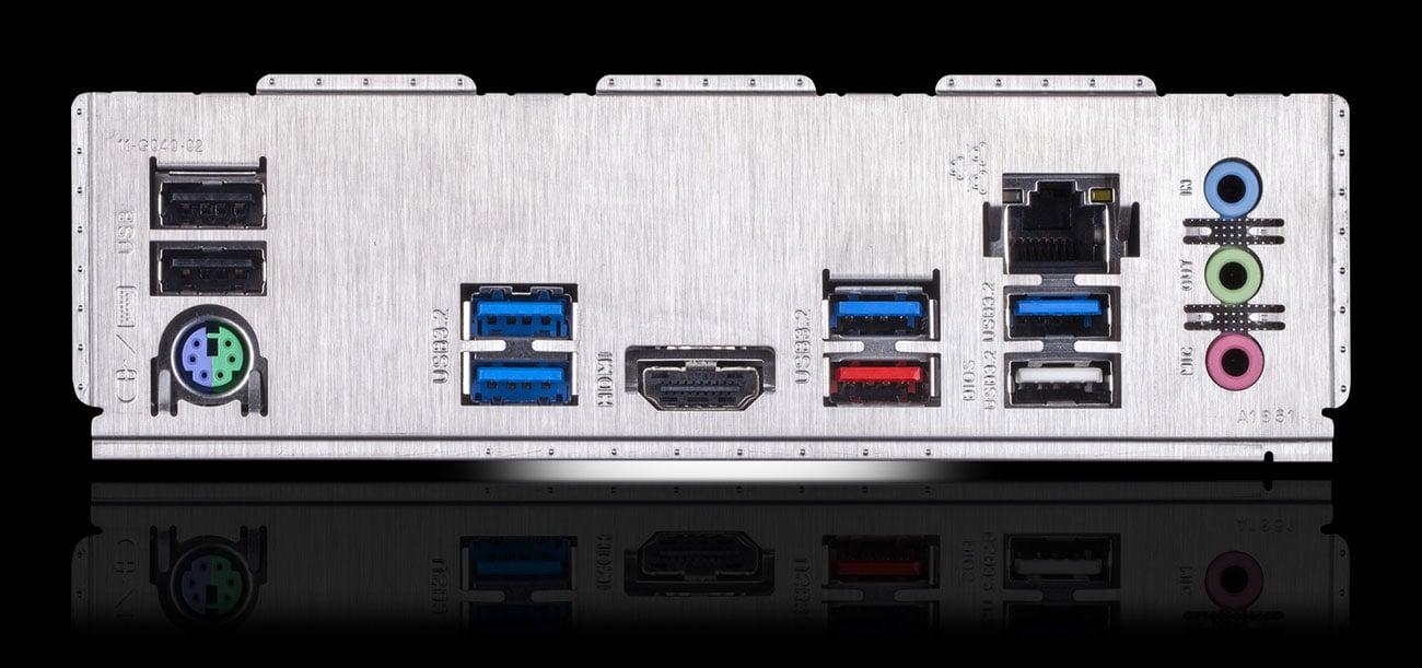 Gigabyte Z490 UD - Złącza
