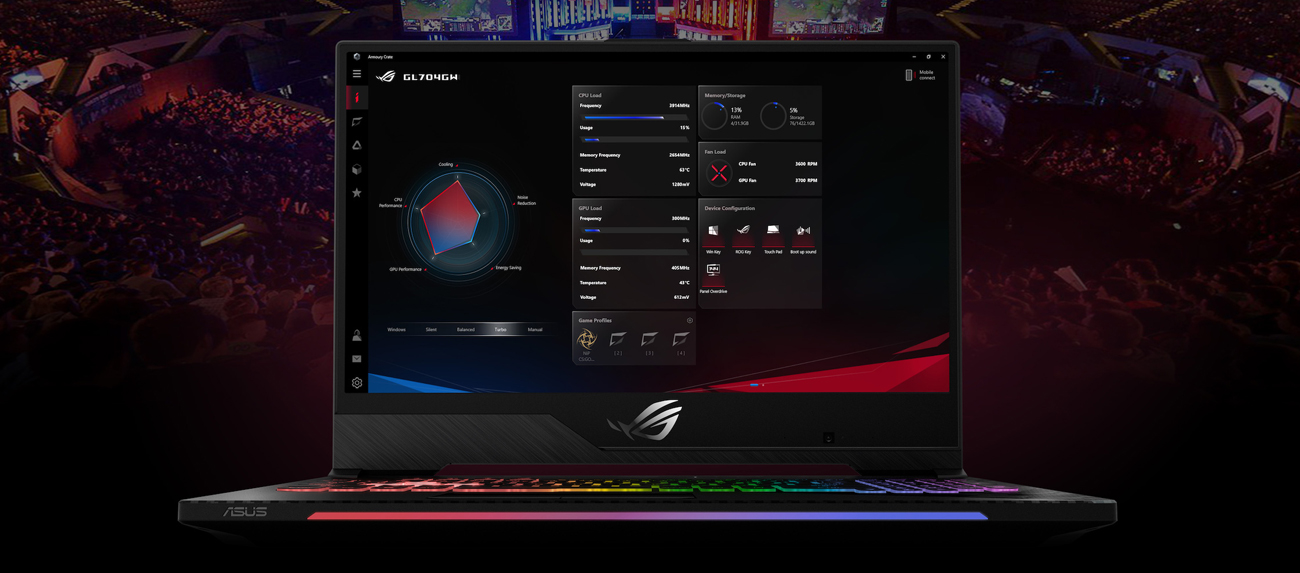 ASUS ROG Strix SCAR II Armoury Crate