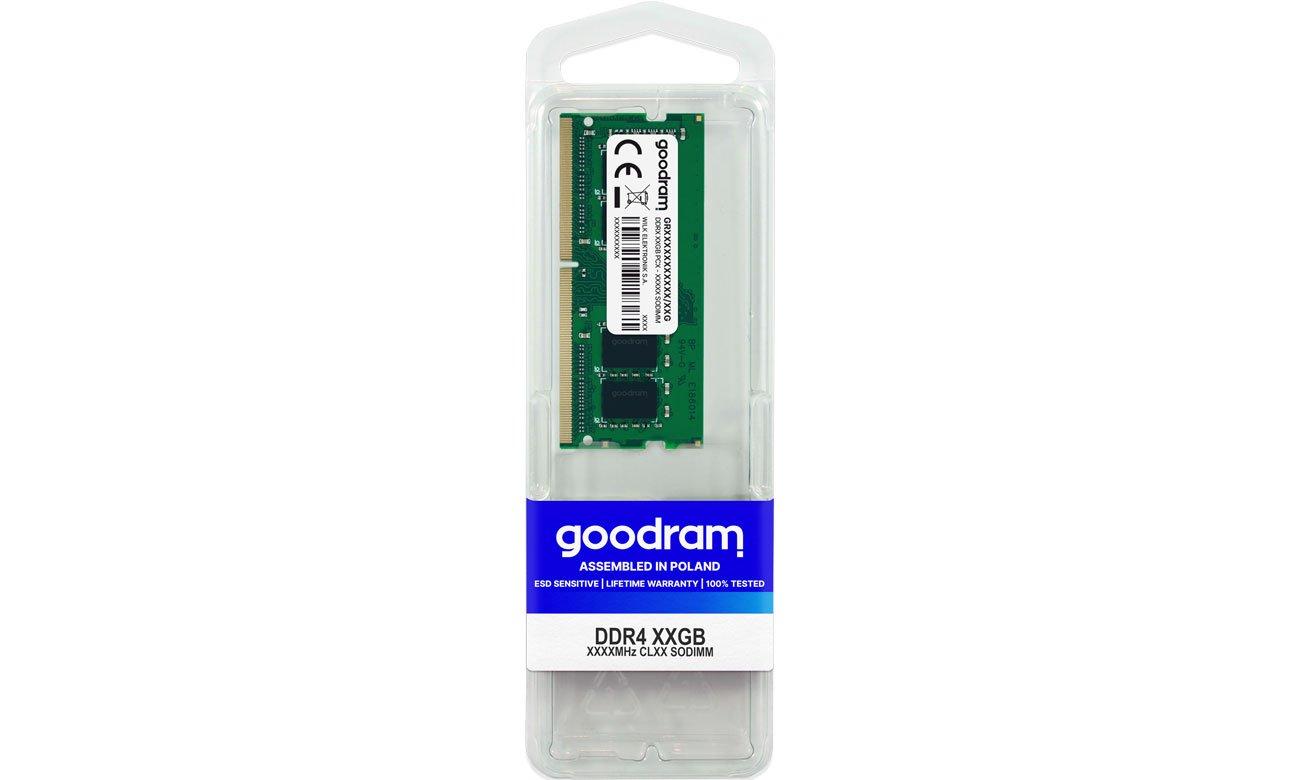 Pamięć RAM SODIMM DDR4 GOODRAM 8GB (1x8GB) 3200MHz CL16 GR3200S464L16S/8G