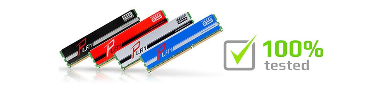 GOODRAM 4GB 1600MHz Testy fabryczne