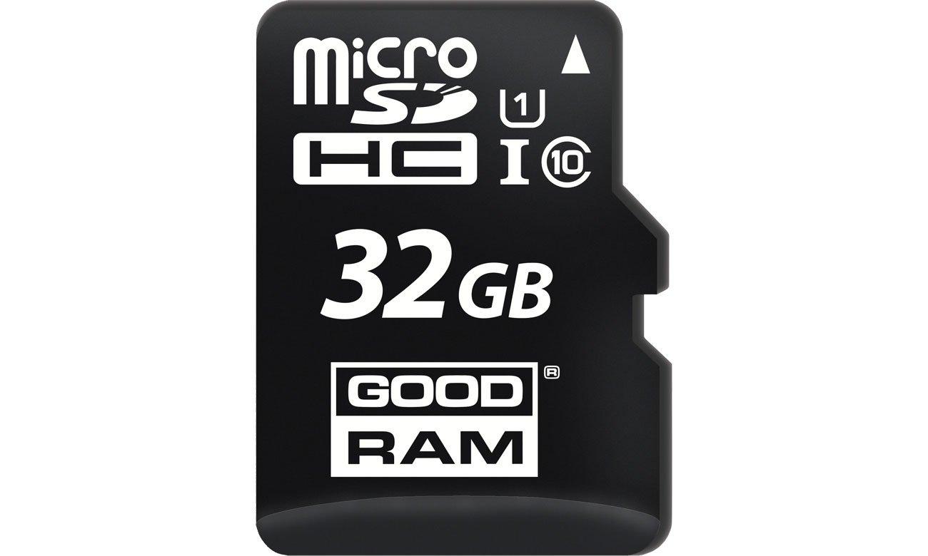 Karta pamięci microSD GOODRAM 32GB microSDHC zapis 10MB/s odczyt 100MB/s