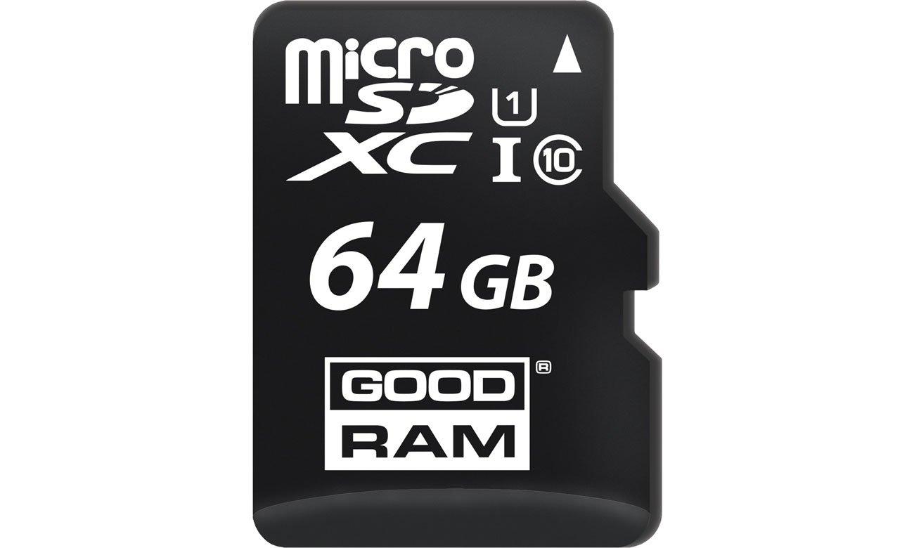 Karta pamięci microSD GOODRAM 64GB microSDHC C10 UHS-I odczyt 100MB/s