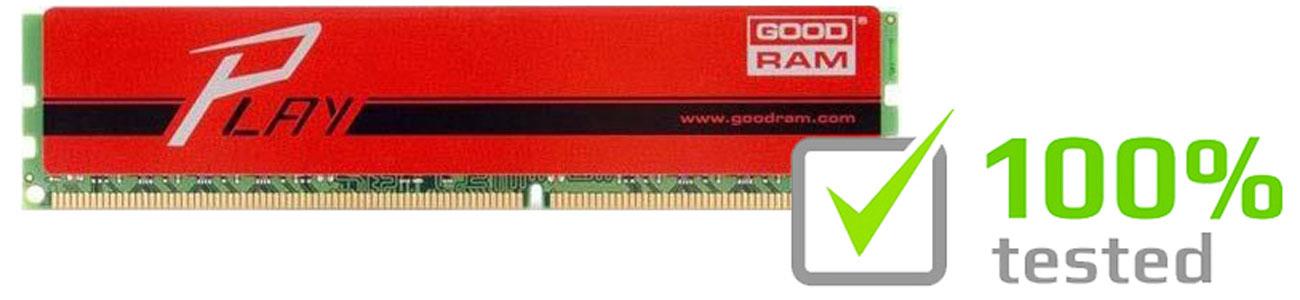 Pamięć RAM DDR4 GOODRAM Play Testy fabryczne