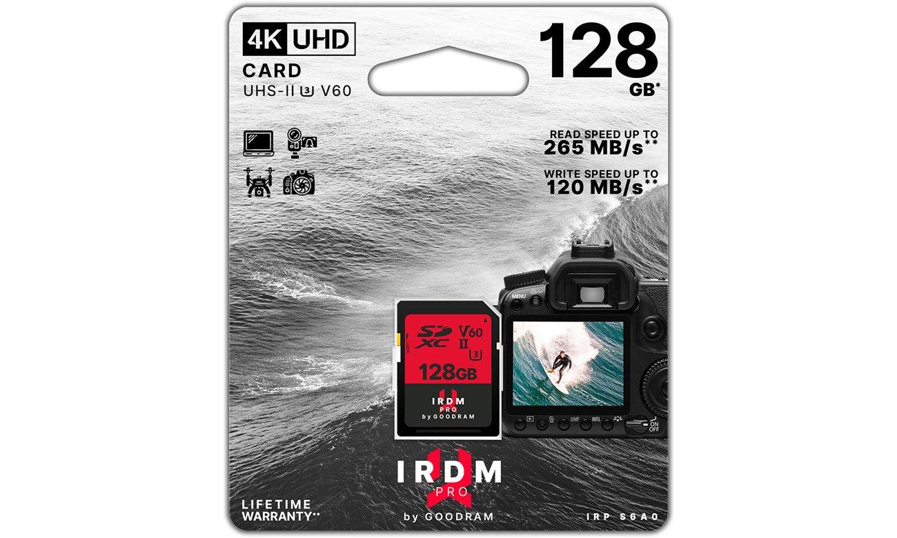 GOODRAM 128GB SDXC IRDM PRO 265MB/s UHS-II U3 V60 IRP-S6B0-1280R12