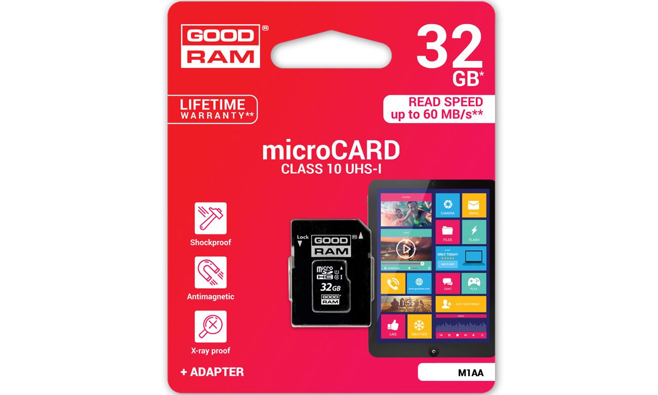 GOODRAM 8GB microSDHC USH 1