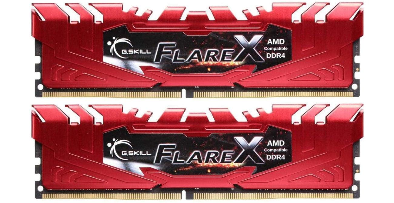 Pamięć RAM DDR4 FlareX Black Ryzen Red F4-2400C15D-32GFXR