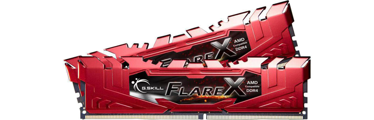Pamięć RAM DDR4 G.SKILL 32GB 2400MHz FlareX Black Ryzen CL15 Red (2x16GB)