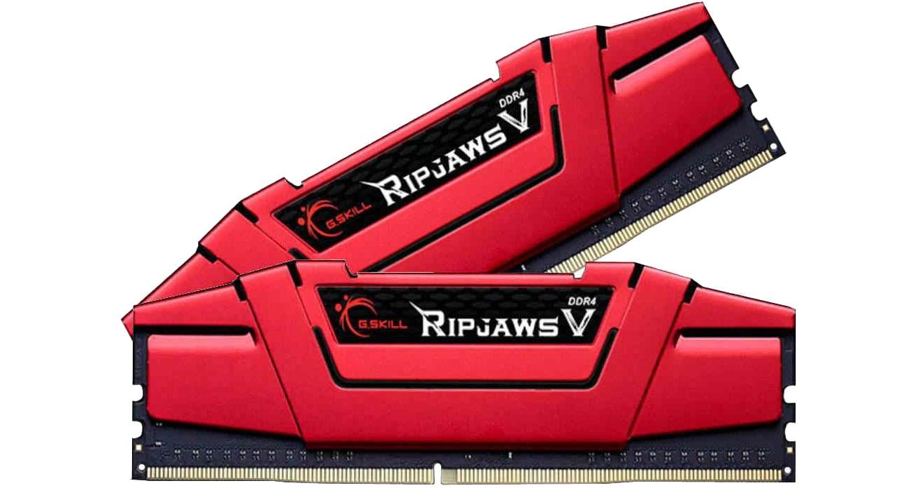 G.SKILL 16GB 3200MHz Ripjaws V CL14 RED (2x8GB) F4-3200C14D-16GVR