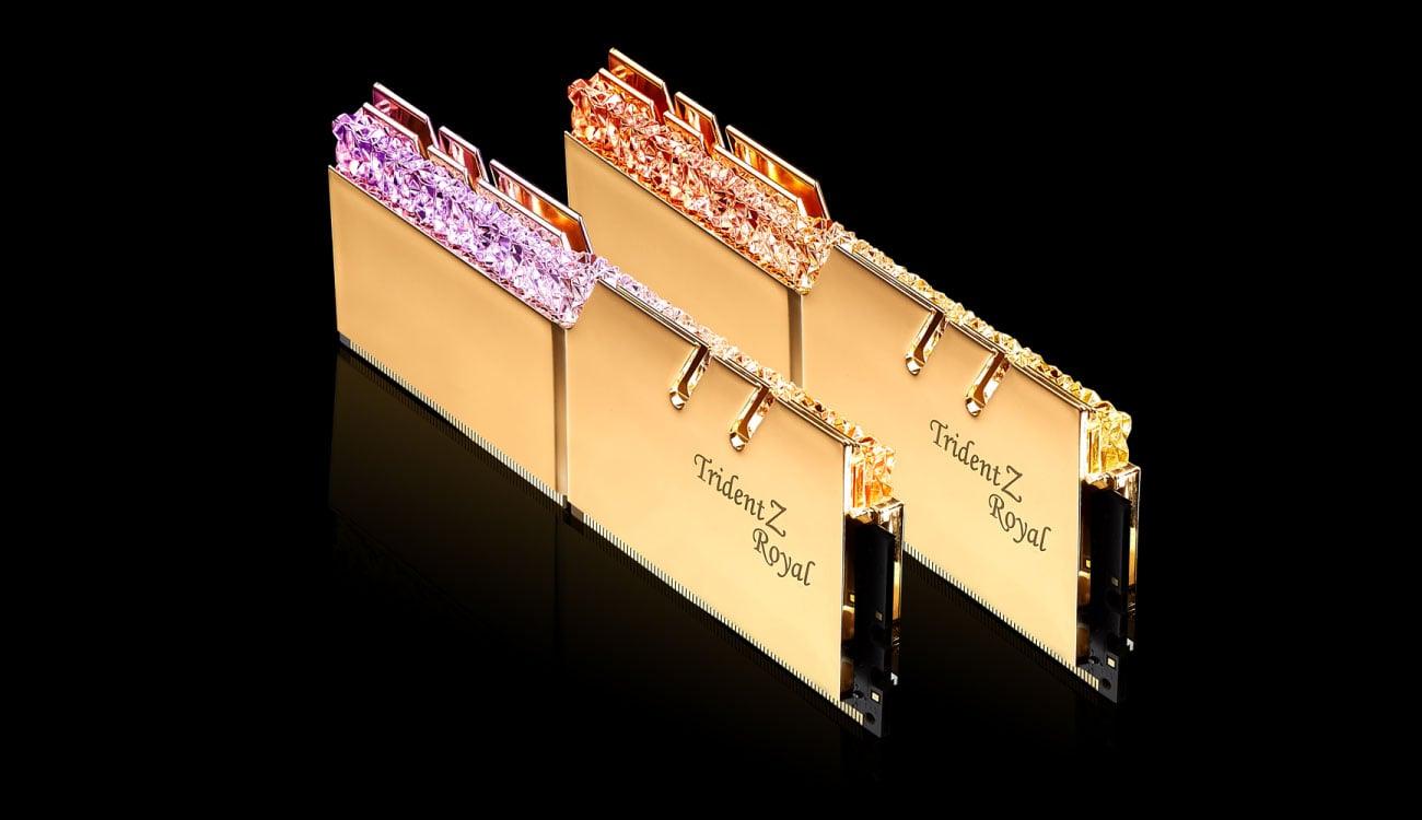 G.SKILL Trident Z Royal Gold Aluminiowe radiatory