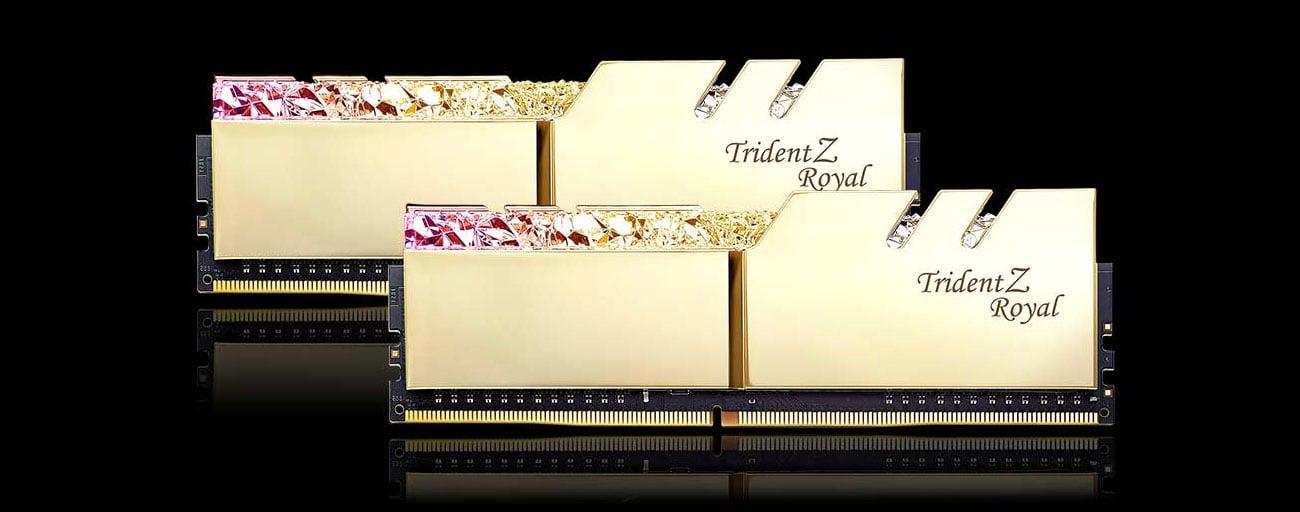 G.SKILL Trident Z Royal Gold Podświetlenie LED RGB