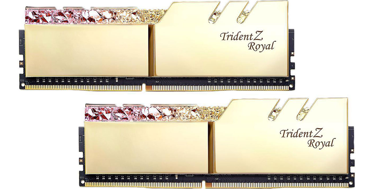Pamięć RAM DDR4 G.SKILL 16GB 3200MHz TridentZ Royal Gold CL16 (2x8GB) F4-3200C16D-16GTRG