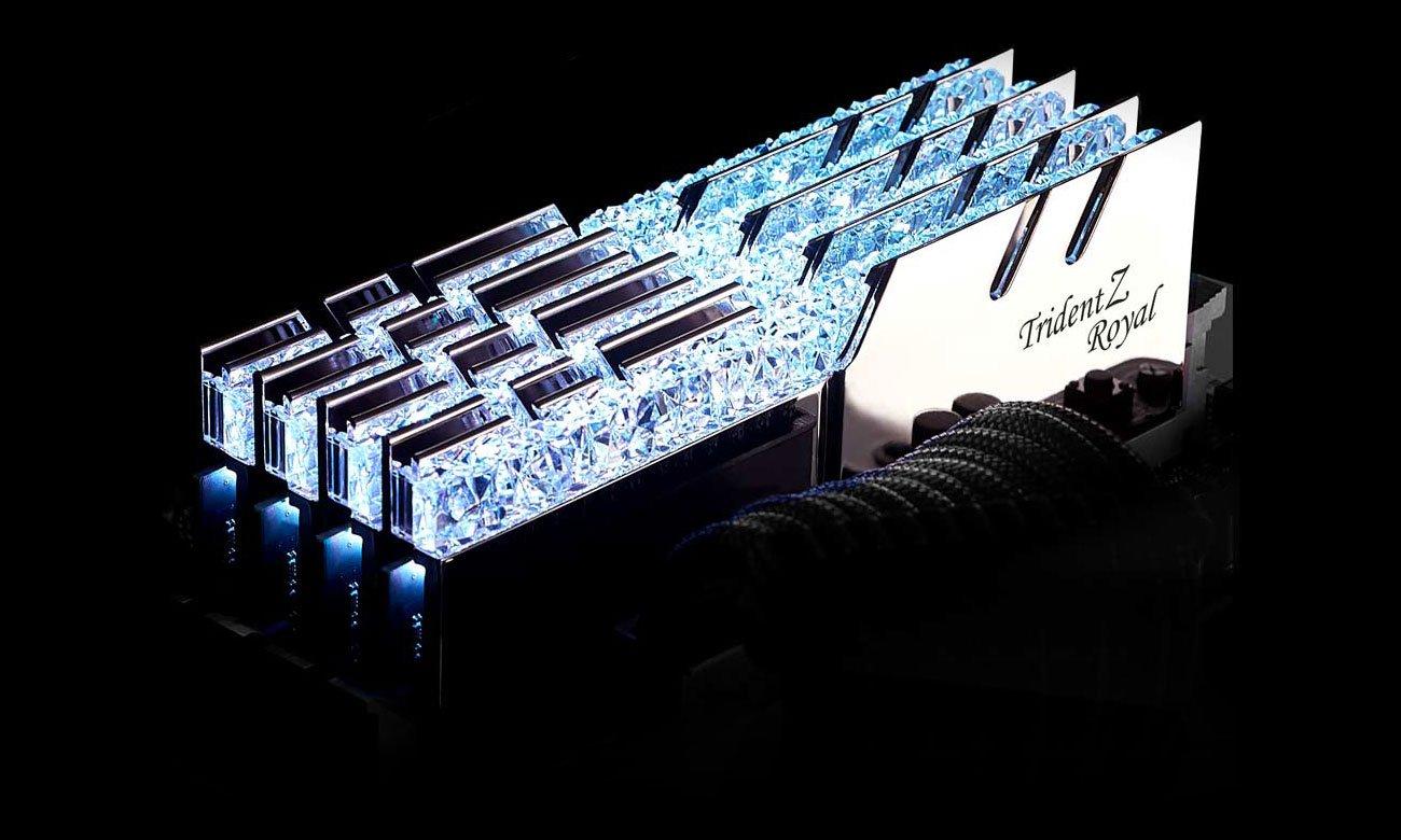 G.SKILL Trident Z Royal Silver Podświetlenie LED RGB