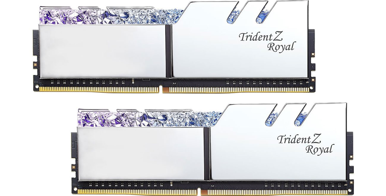 Pamięć RAM DDR4 G.SKILL 16GB 3200MHz TridentZ Royal Silver CL14 (2x8GB) F4-3200C14D-16GTRS