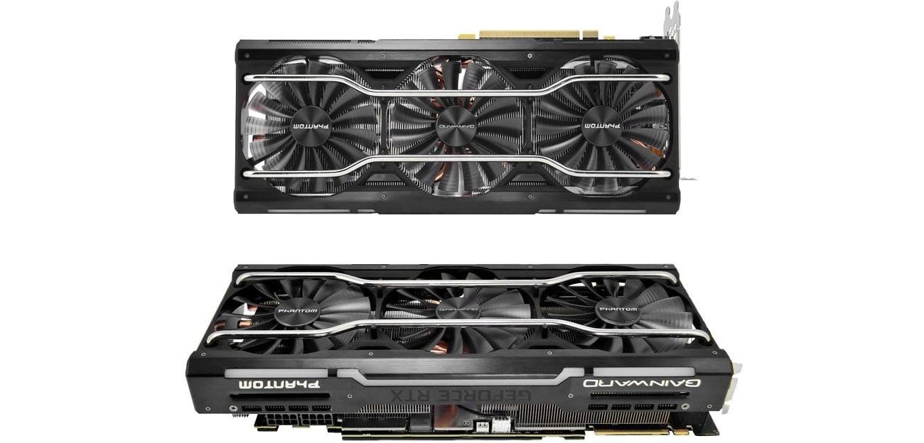 Gainward GeForce RTX 2080 Phantom GS Chłodzenie, trzy wentylatory