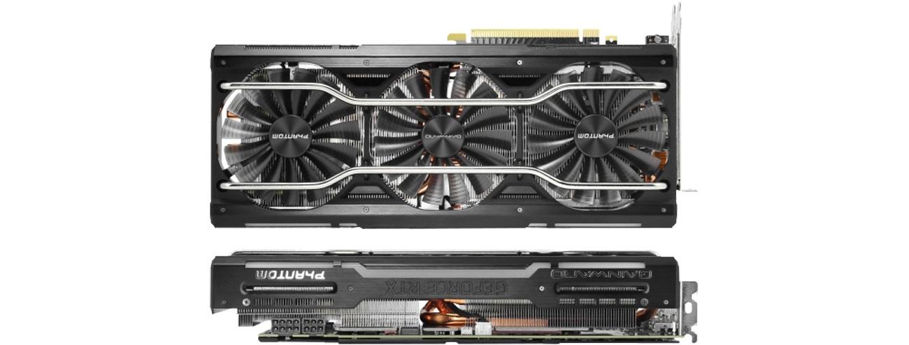 Gainward GeForce RTX 2070 Phantom GS Chłodzenie, trzy wentylatory