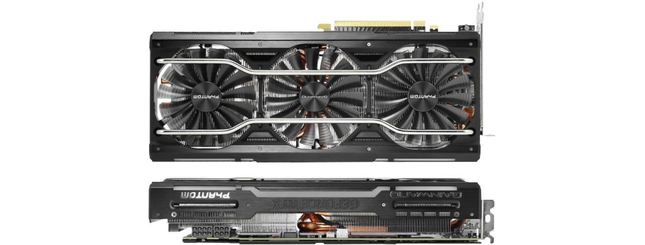 Gainward GeForce RTX 2070 Phantom Chłodzenie, trzy wentylatory