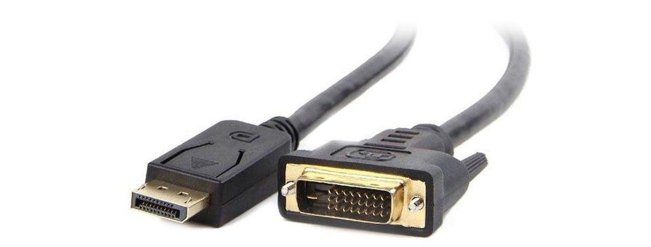 Kabel DisplayPort Gembird DisplayPort (M)->DVI-D 1,8m czarny CC-DPM-DVIM-1.8M