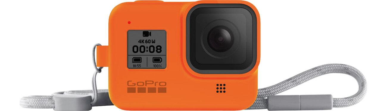 GoPro Silikonowe Etui do HERO8 Black pomarańczowe AJSST-004