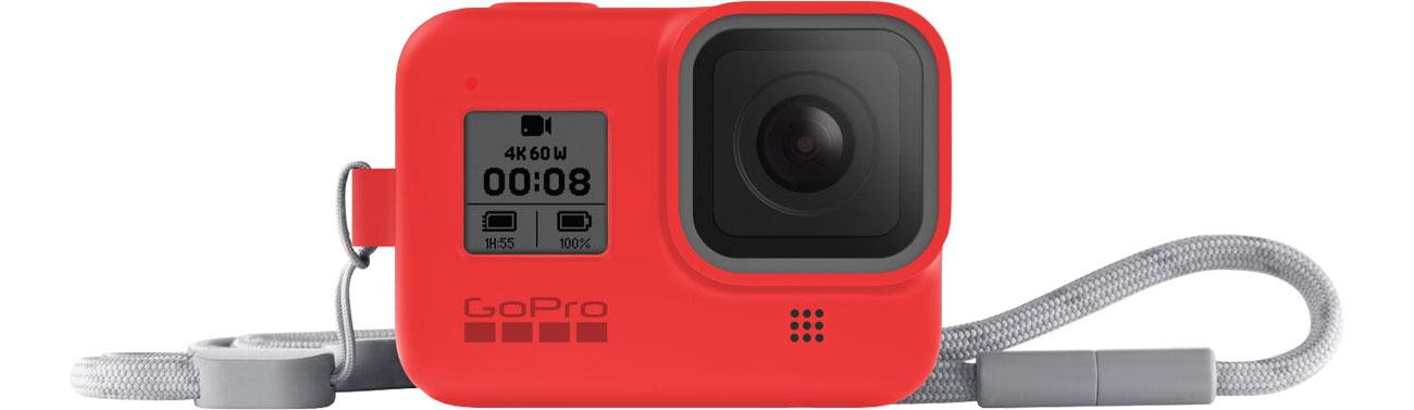 GoPro Silikonowe Etui do HERO8 Black czerwone AJSST-008