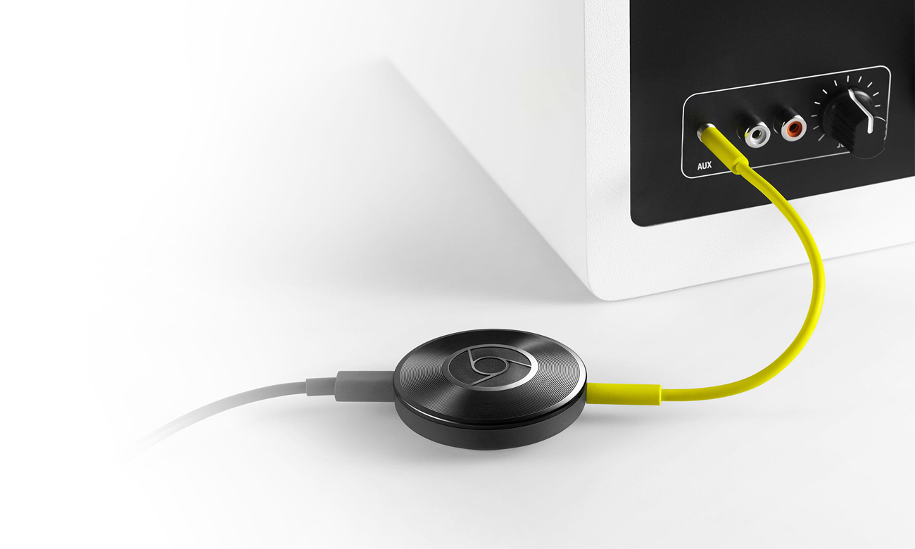 Podłącz Google Chromecast Audio do głośników