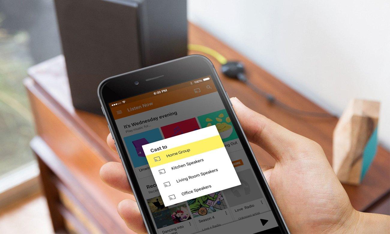Łatwe przesyłanie muzyki z Google Chromecast Audio