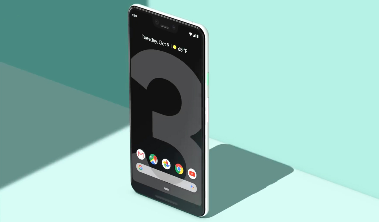 Google Pixel 3 panoramiczny ekran oled