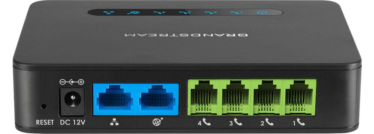 Grandstream HT 814 Złącza 2x10/100/1000Mbit 4xFXS 4xSIP