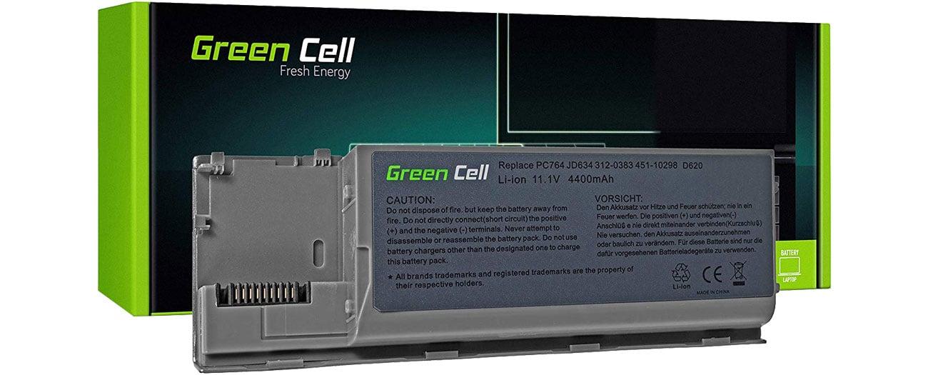 Green Cell Bateria do Dell Latitude (4400 mAh, 11.1V, 10.8V) DE24